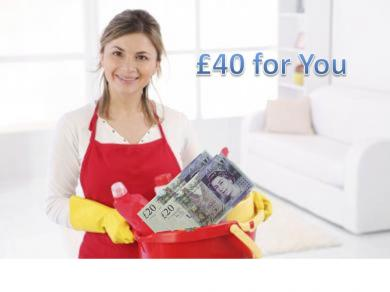 £40 worth of free cleaning service just for you!